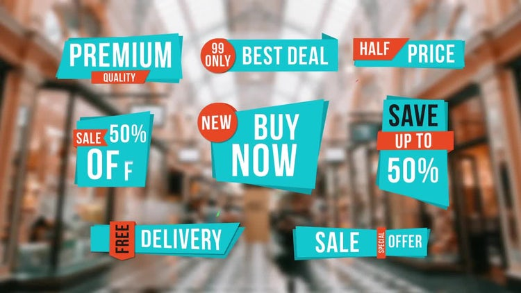 Sale Labels : After Effects Templates
