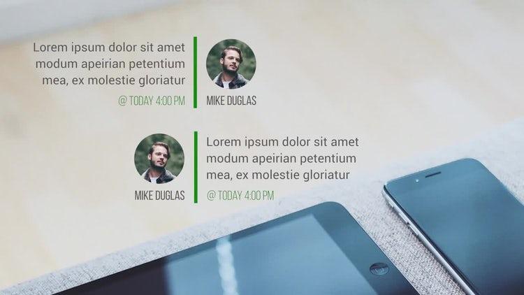 Text Messages: Premiere Pro Templates