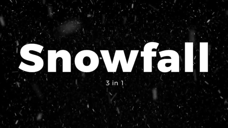 Snowfall 3 in 1: Stock Motion Graphics
