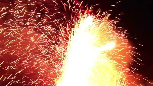 Tiny Fireworks Closeup : Stock Video