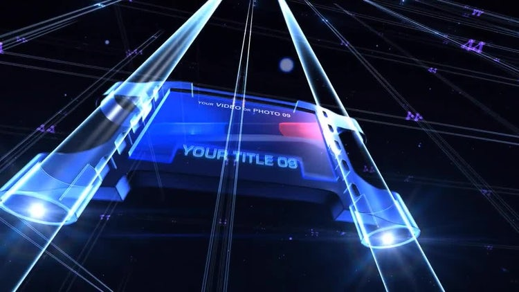Flying Neon Screens: After Effects Templates
