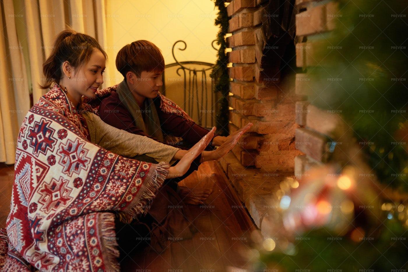 Cozy Christmas Night: Stock Photos