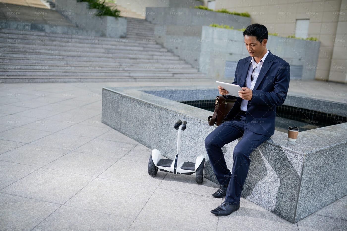 Entrepreneur With Tablet Computer: Stock Photos