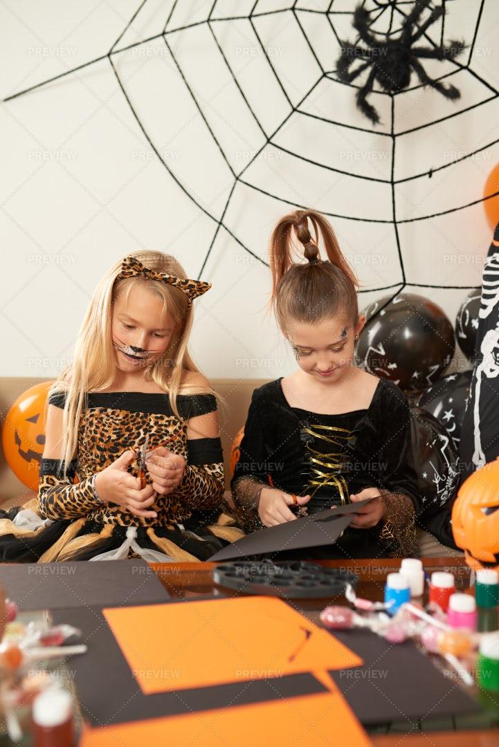 Halloween Craft For Kids: Stock Photos