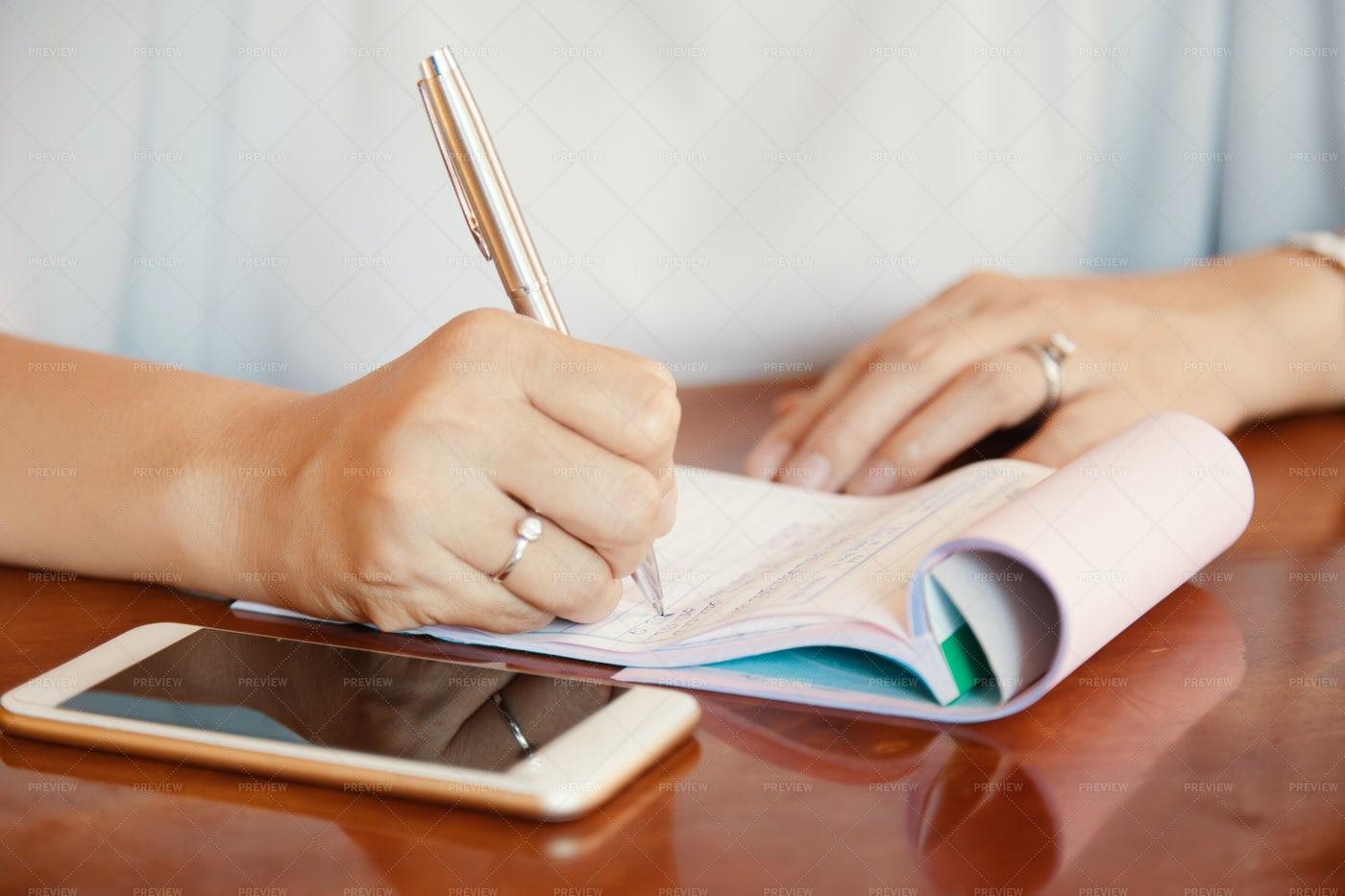 Business Woman Planning Work: Stock Photos