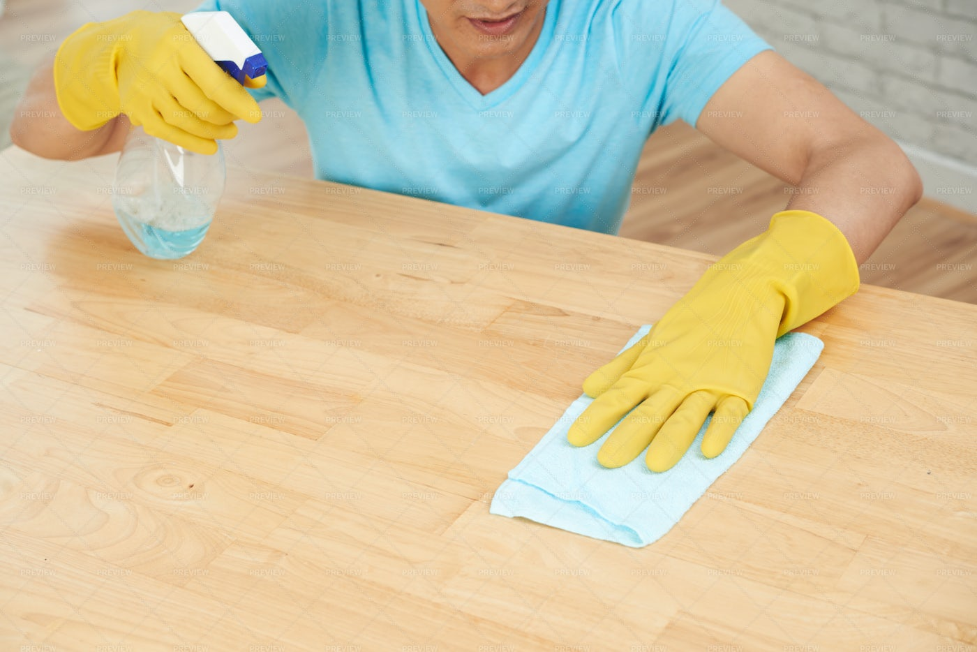 Wiping Table: Stock Photos