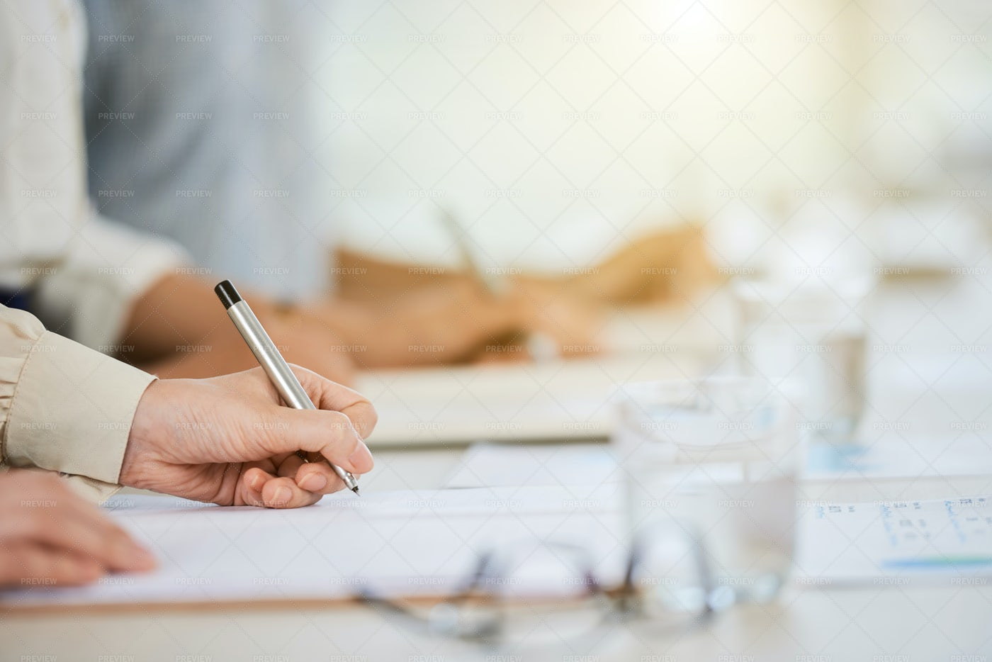 Signing Business Document: Stock Photos