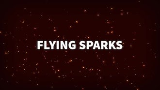 Flying Sparks: Stock Motion Graphics