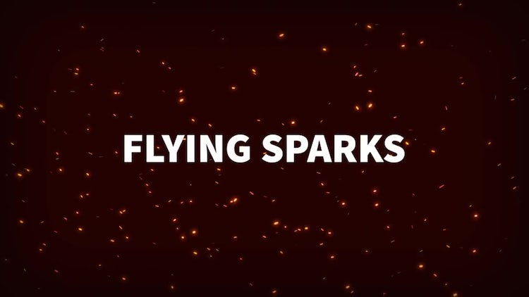 Flying Sparks: Motion Graphics