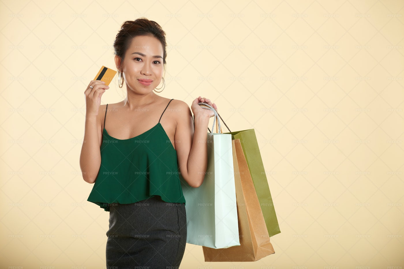 Shopping With Credit Card: Stock Photos