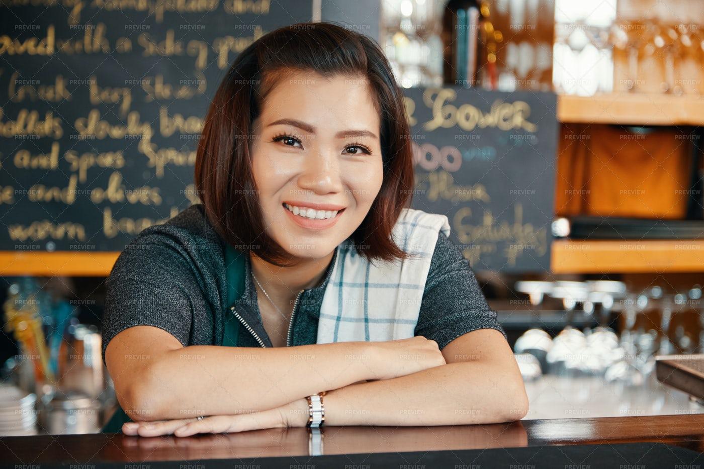 Female Bartender: Stock Photos