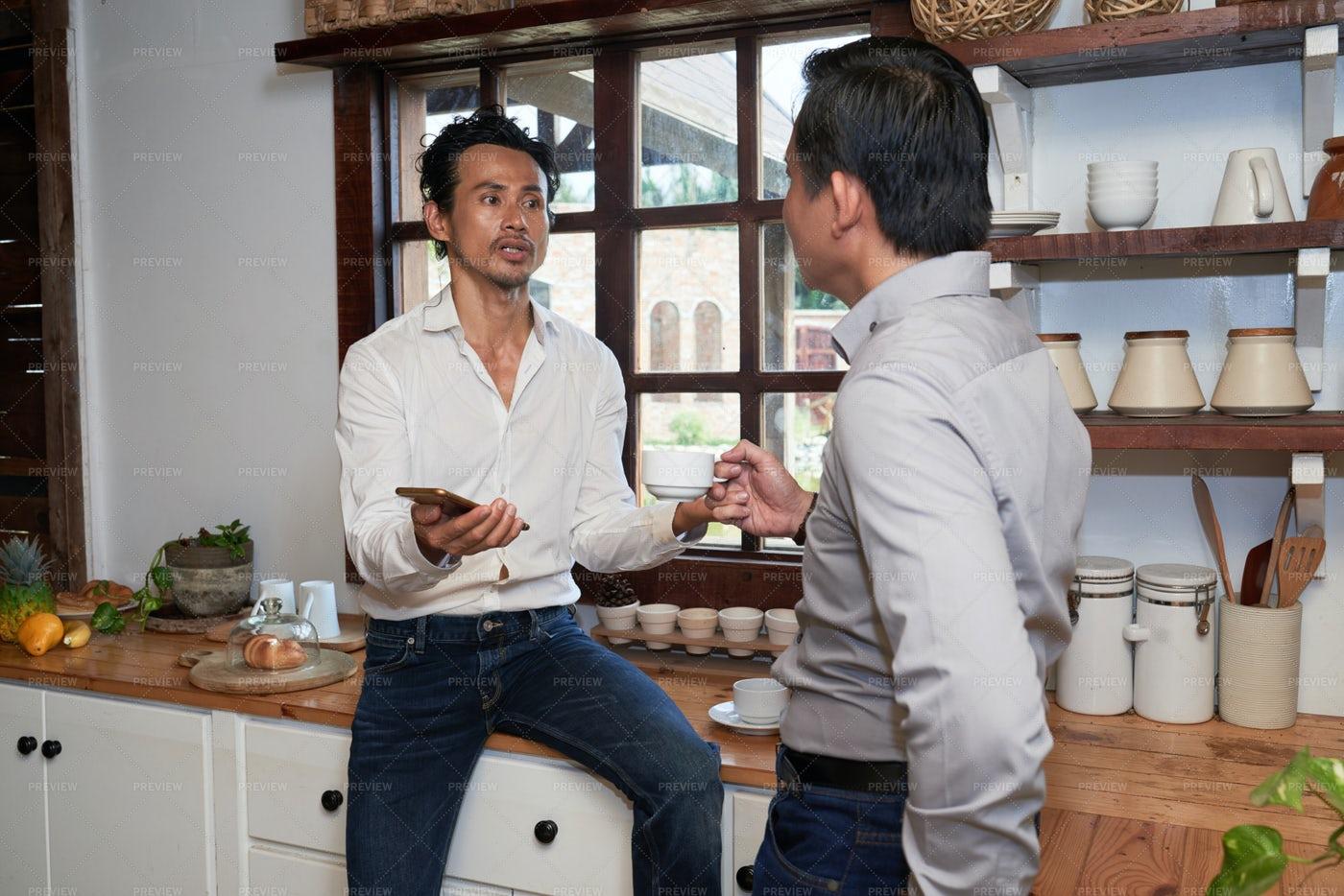 Business Meeting At Home: Stock Photos