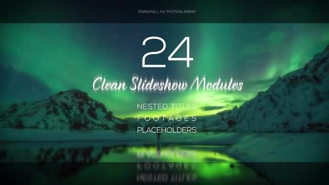 Clean Slideshow Module Pack: Premiere Pro Templates