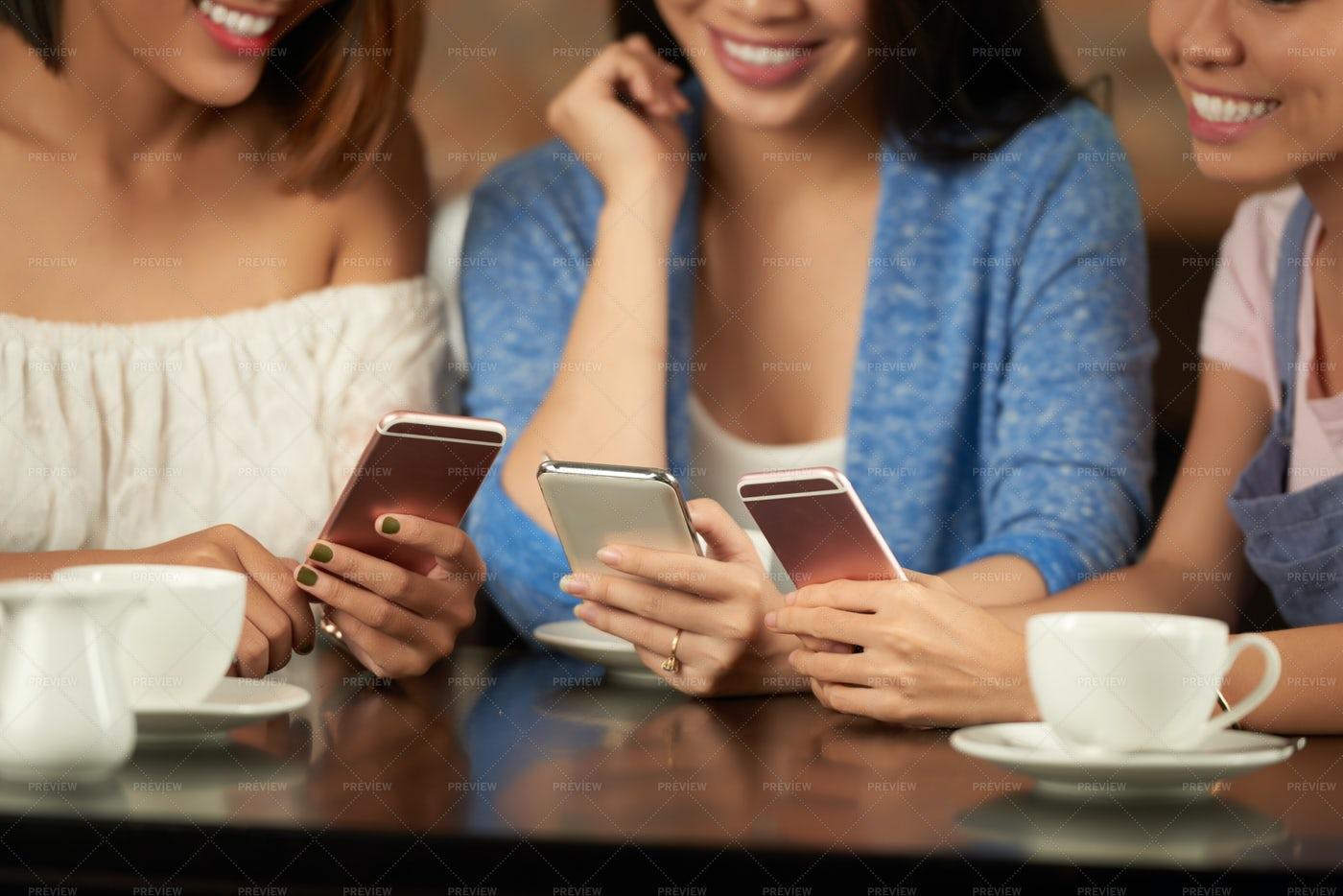 Texting Girls: Stock Photos