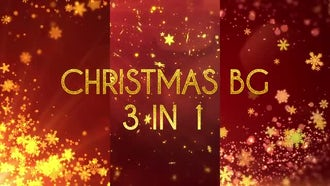 Christmas BG 3 in 1: Motion Graphics