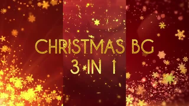 Christmas BG 3 in 1: Stock Motion Graphics