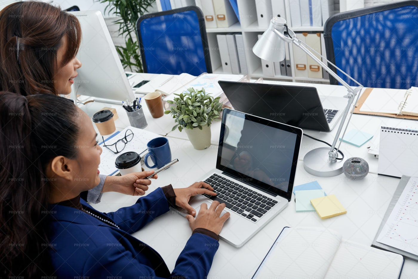 Helping With Work: Stock Photos