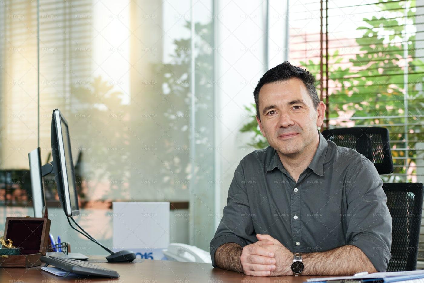Businessman At Workplace: Stock Photos