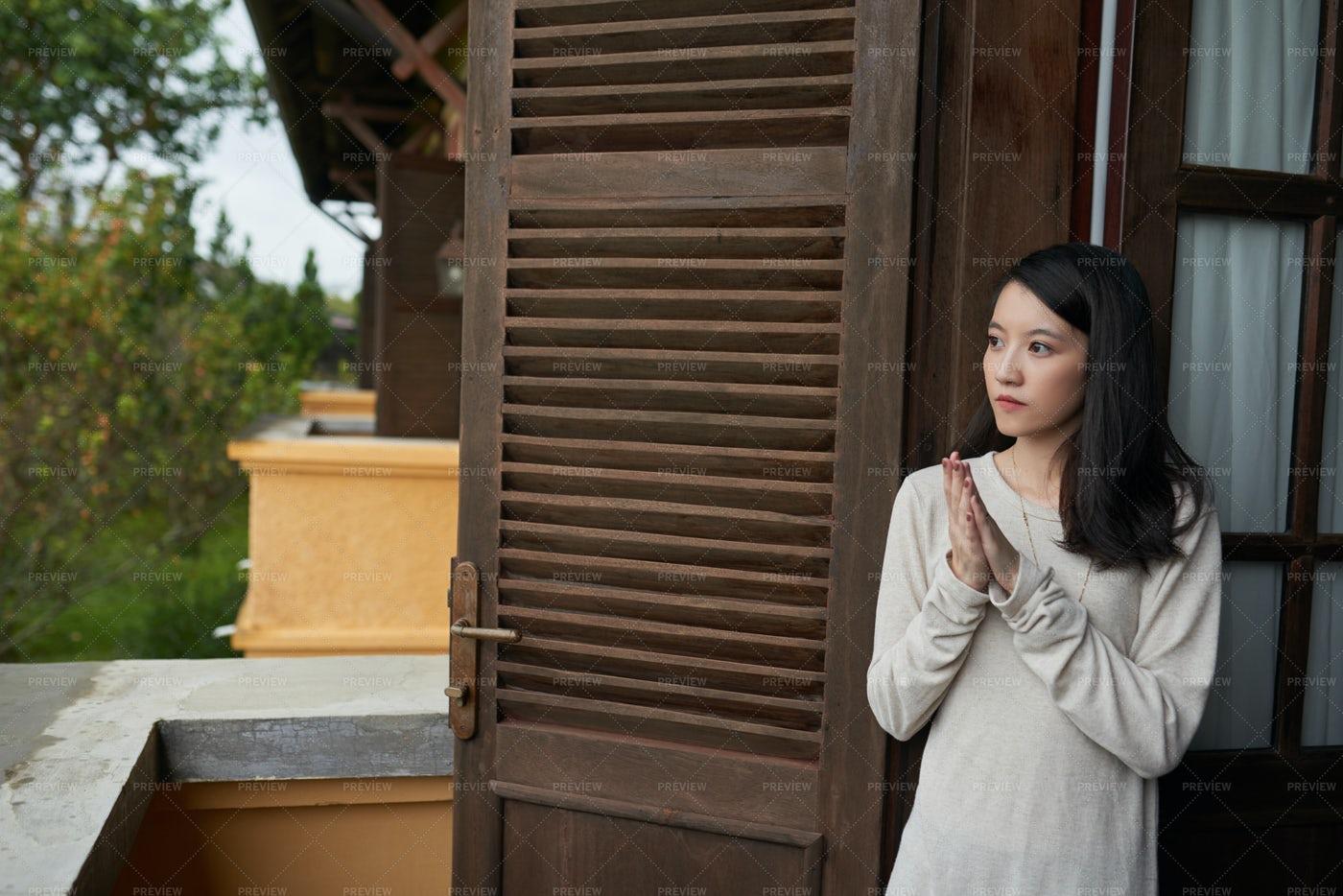 Pensive Young Woman: Stock Photos