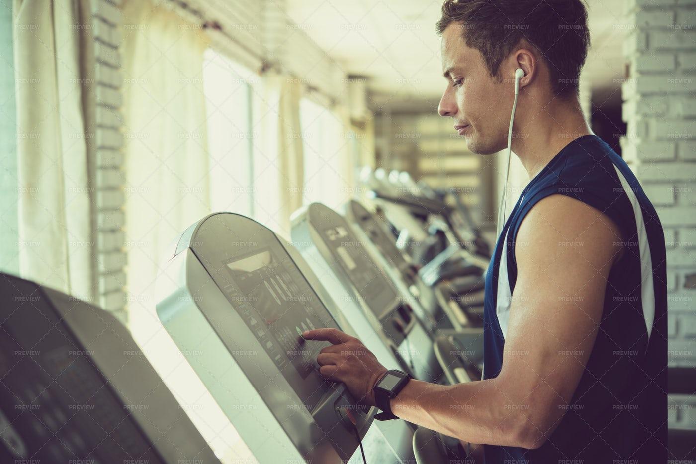 Athlete On Threadmill: Stock Photos