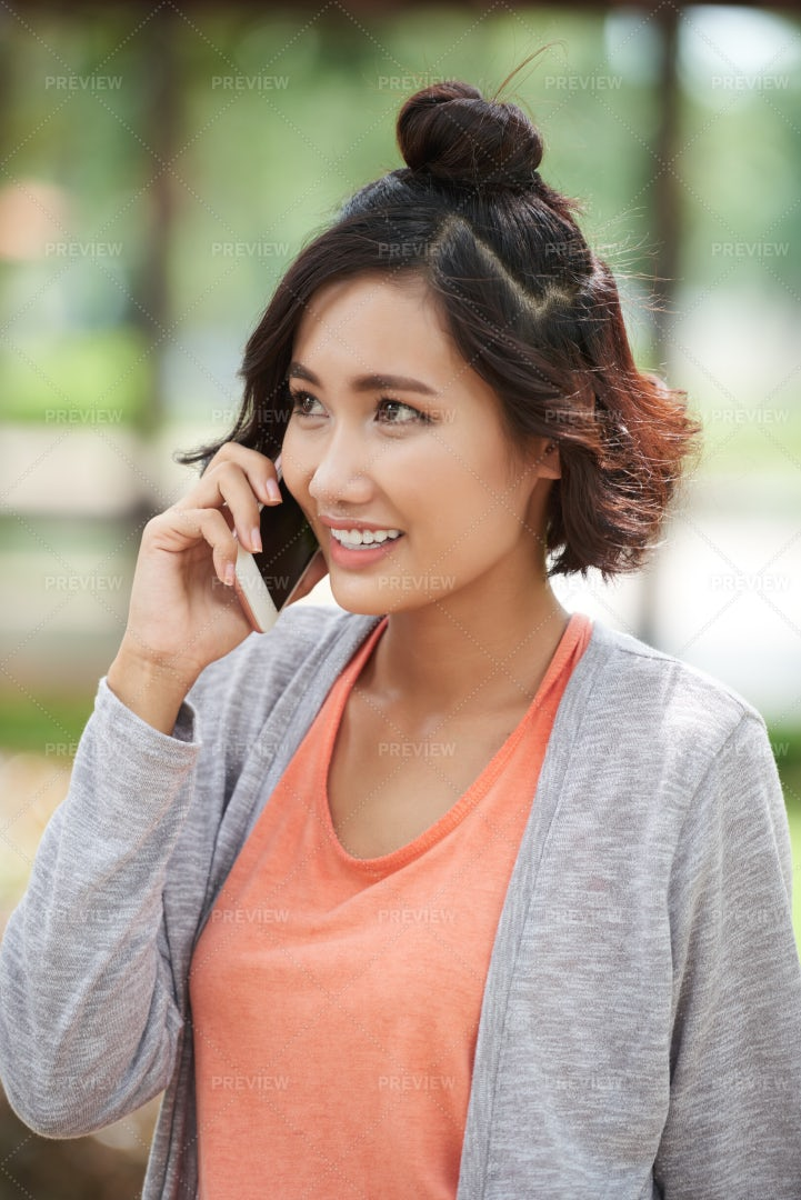 Calling To Friend: Stock Photos