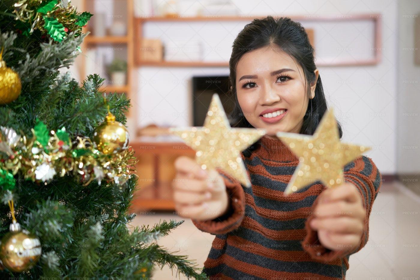 Enjoying Preparing For Christmas: Stock Photos