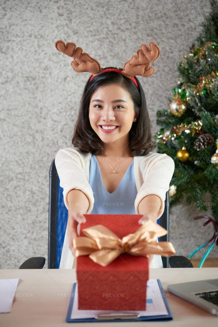 Presenting Gift: Stock Photos