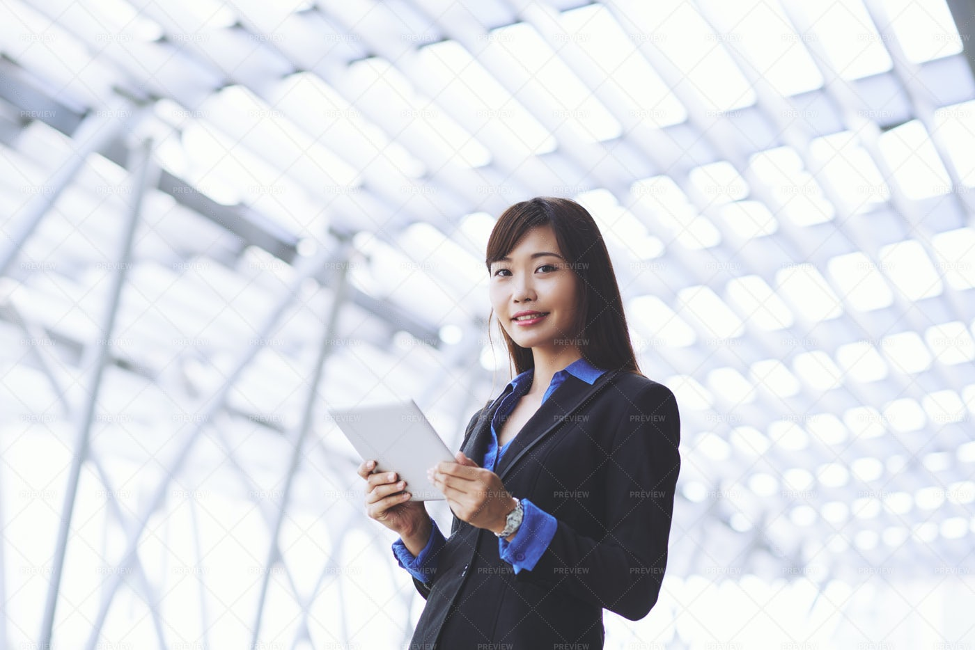 Business Woman With Digital Tablet: Stock Photos