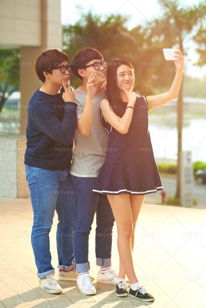 Taking Selfie: Stock Photos