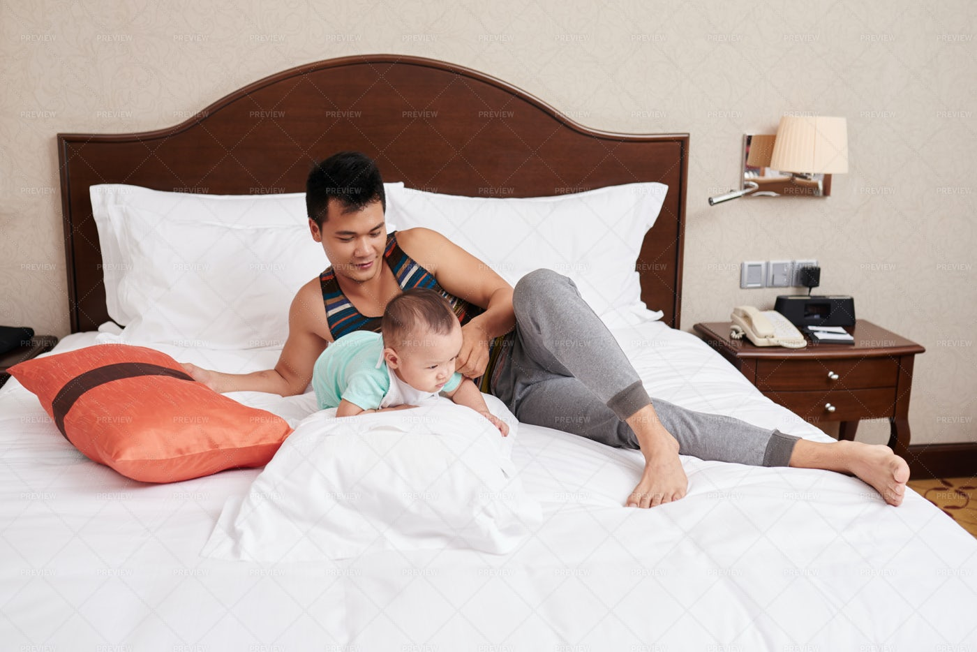 Playing With Baby: Stock Photos