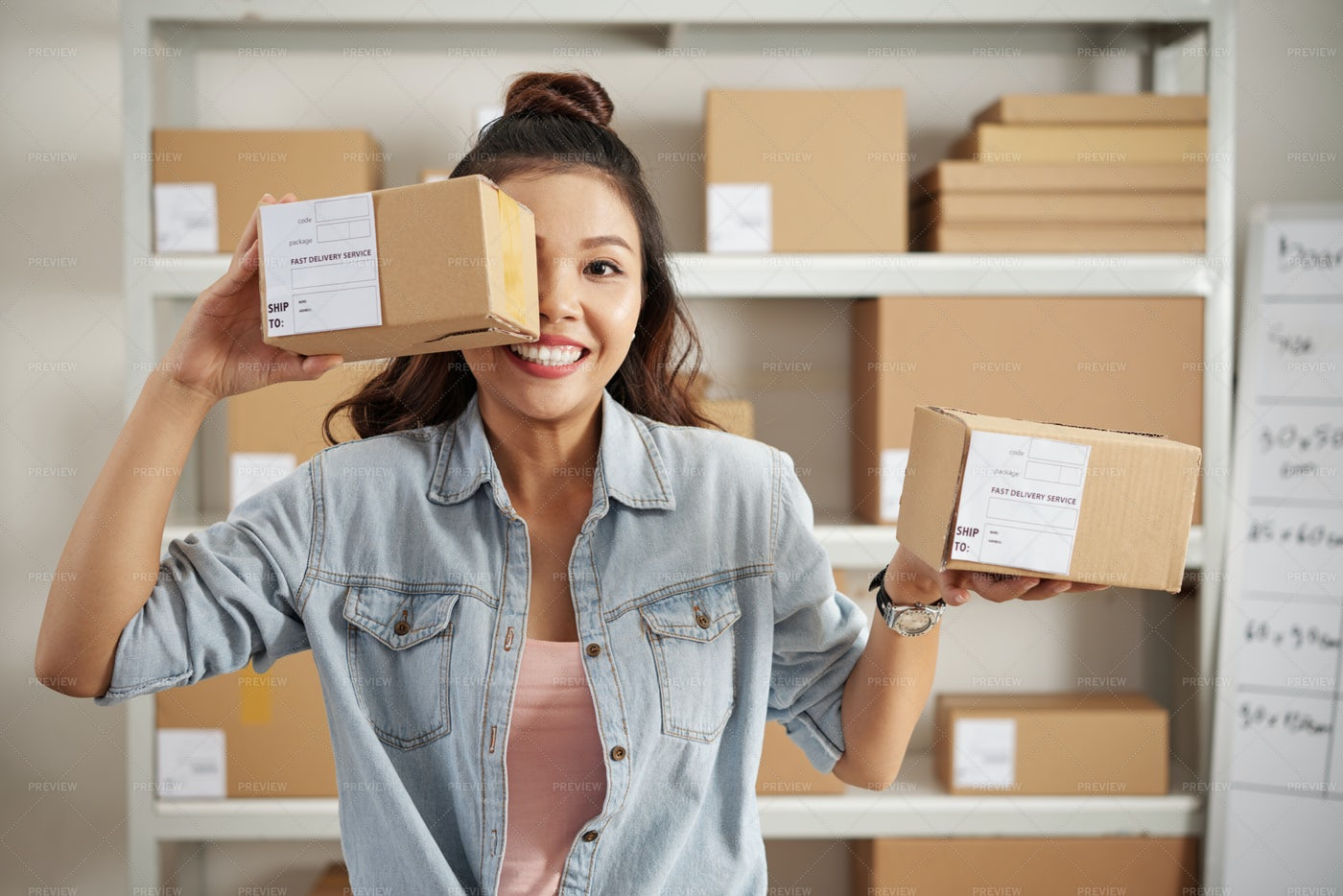 Parcels For Customers: Stock Photos