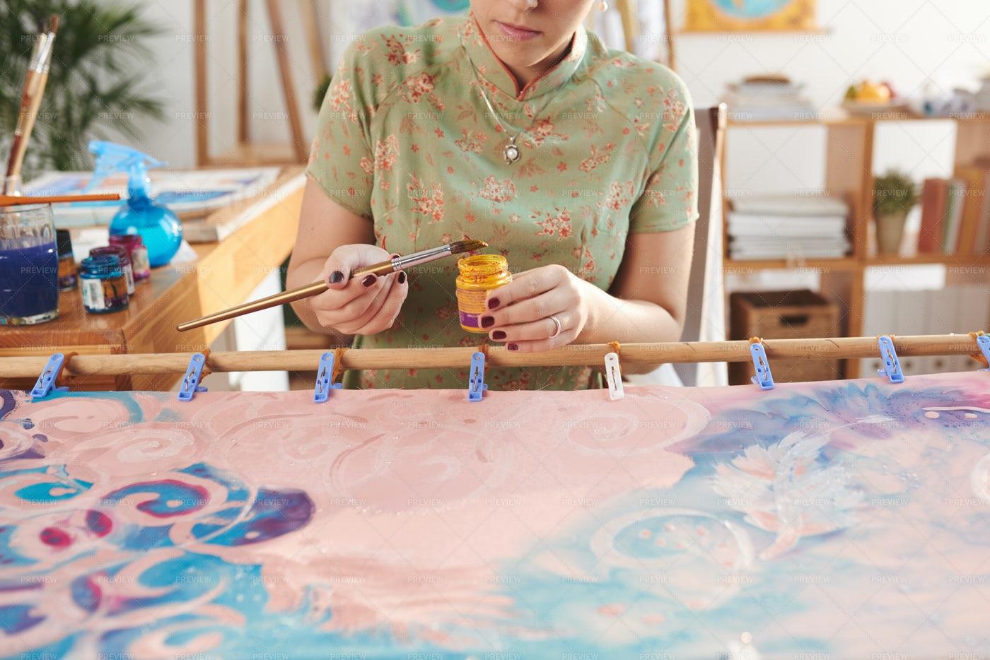 Painting Woman: Stock Photos
