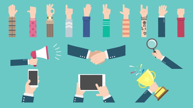 Hand Gestures Pack: Stock Motion Graphics