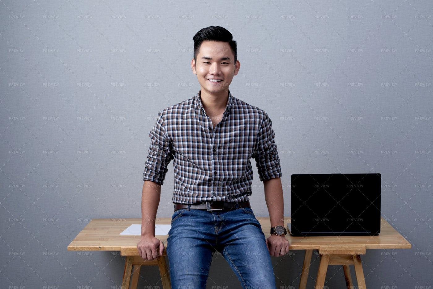 Confident Entrepreneur Posing For...: Stock Photos