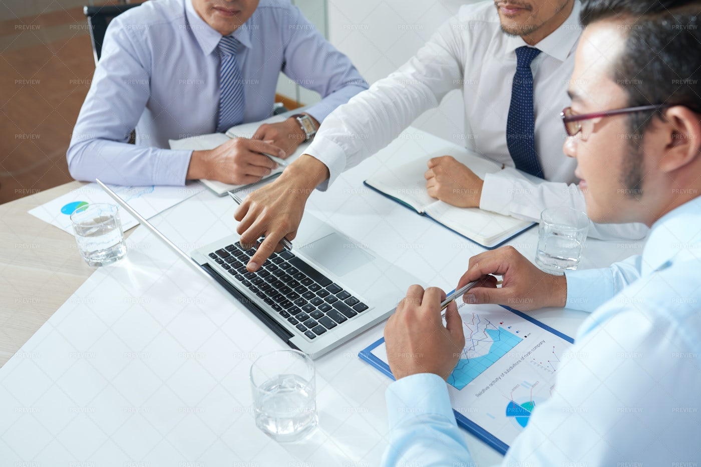 Business People Watching...: Stock Photos