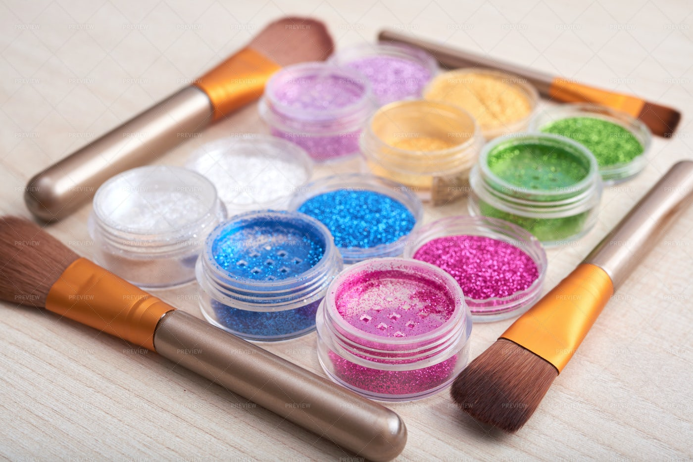 Arrangement Of Glitters With...: Stock Photos