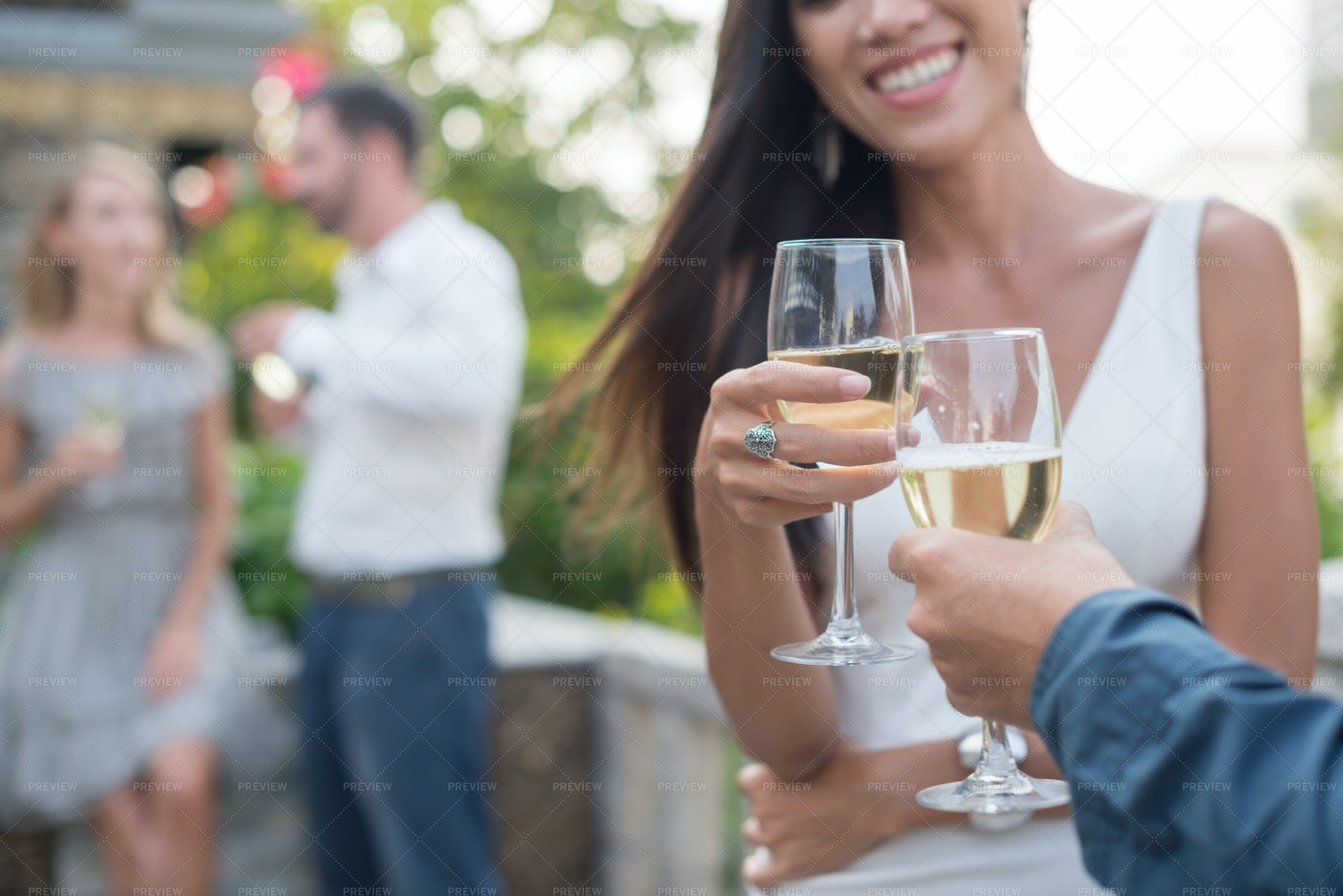 Toasting Couple: Stock Photos