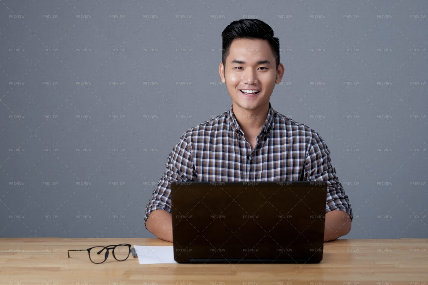 Asian Designer At Work: Stock Photos