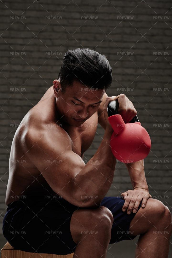 Exercising In Gym: Stock Photos