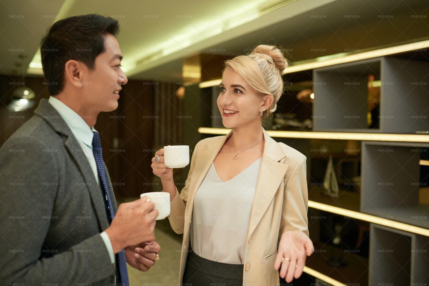Talking Business Partners: Stock Photos