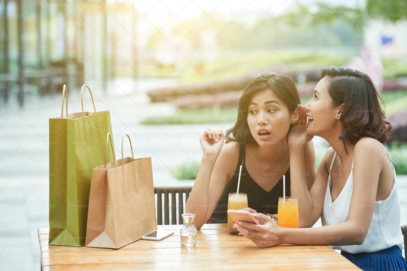 Gossiping Girls: Stock Photos