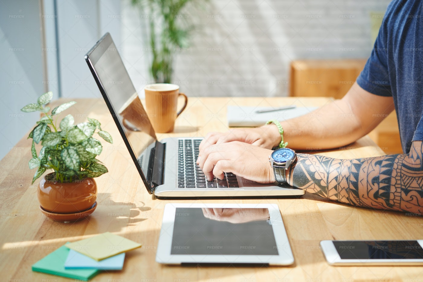 Working Form Home: Stock Photos