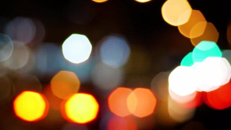 Car Bokeh At Night: Stock Video