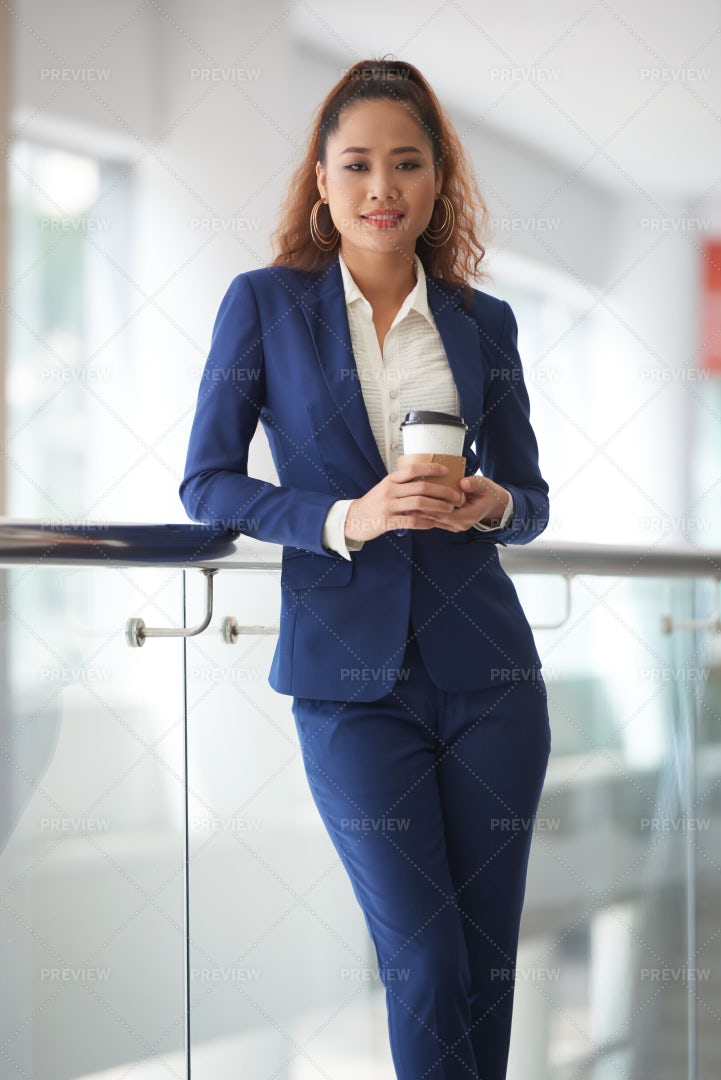 Cheerful Business Lady: Stock Photos