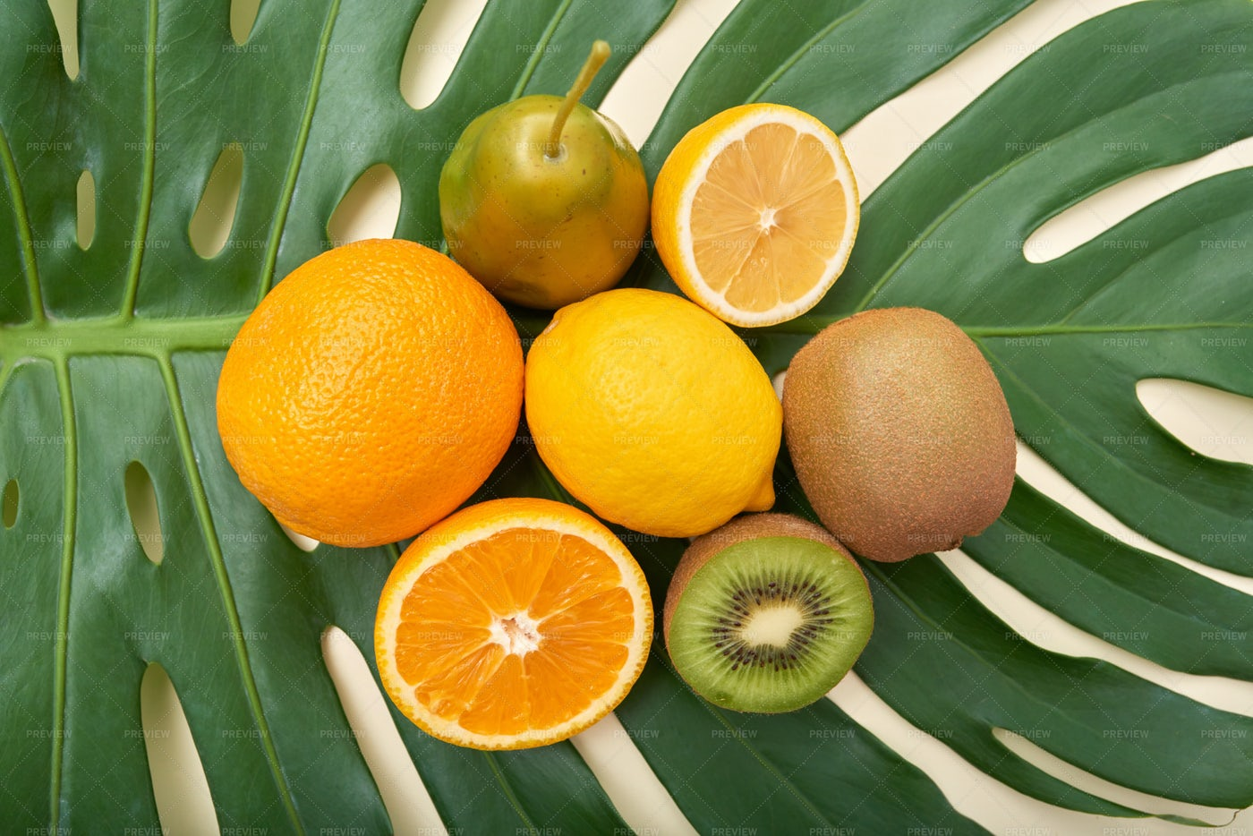 Heap Of Bright Fruit On Top Of...: Stock Photos