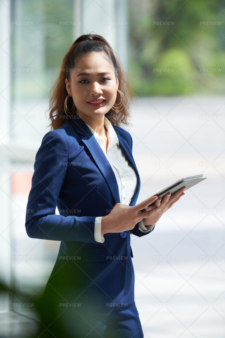 Cheerful Young Business Lady: Stock Photos