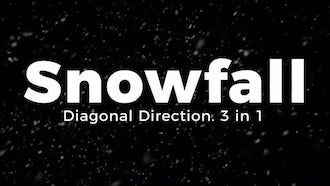 Snowfall. Diagonal Direction.: Motion Graphics