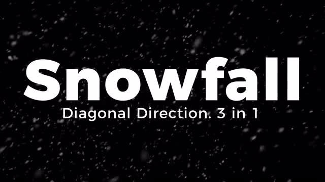 Snowfall. Diagonal Direction.: Stock Motion Graphics
