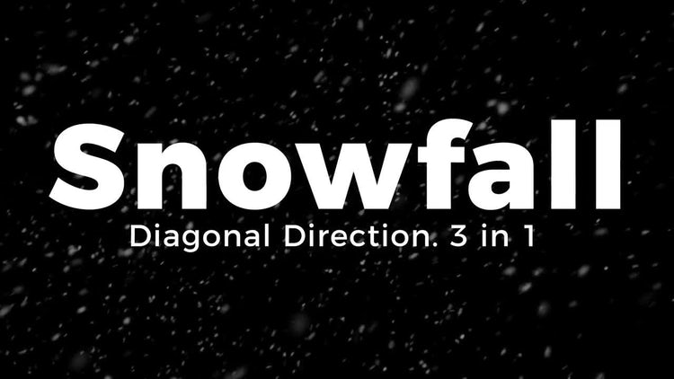 Snowfall. Diagonal Direction.: Motion Graphics