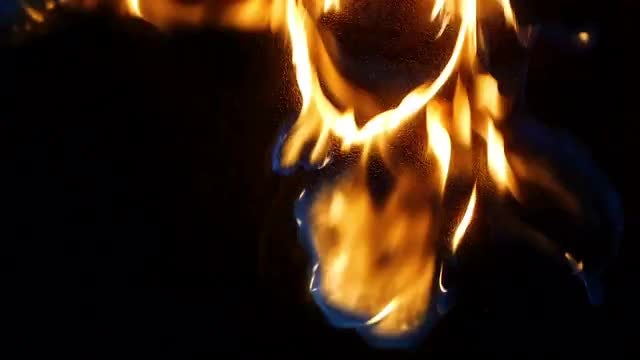 Flames on metal : Stock Video